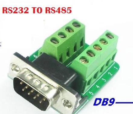 RS232/RS485 Serial Terminal DB9 male to terminal