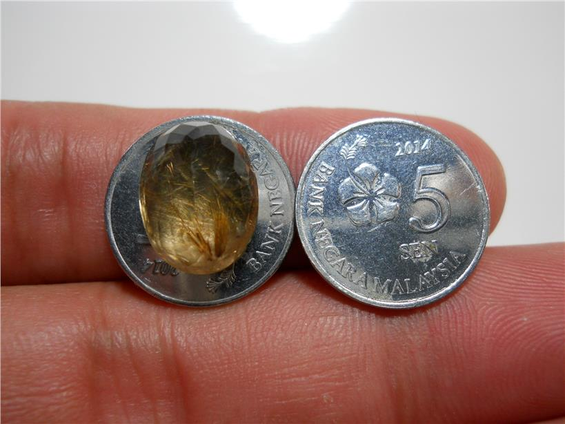 RT049 BATU JARUM EMAS GOLDEN Rutilated Quartz