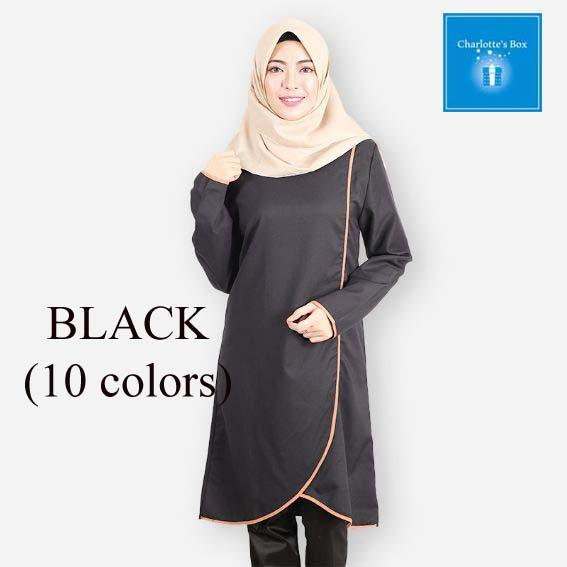 RTY-3200C- Muslimah Eyra Long Blouse (10 colors)