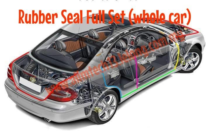 Rubber Seal Stripe Full Car Doors Engine Bay and Truck