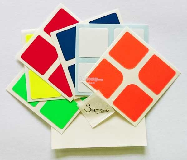 Rubik's Cube - 2x2x2 Replacement Half Bright Stickers