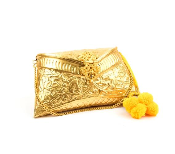 ruhmet embossed gold clutch bag with end 6 18 2017 7 15 pm