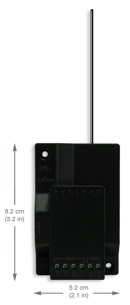 RX1 Paradox Wireless Receiver Module; 32 wireless zone; two on-board P..