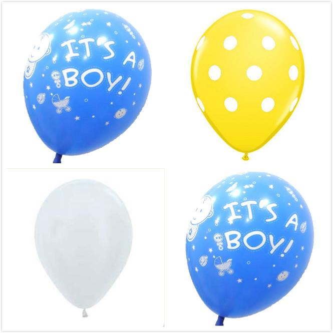 IT'S A BOY Balloons Set 12ct Sempertex 12-inches