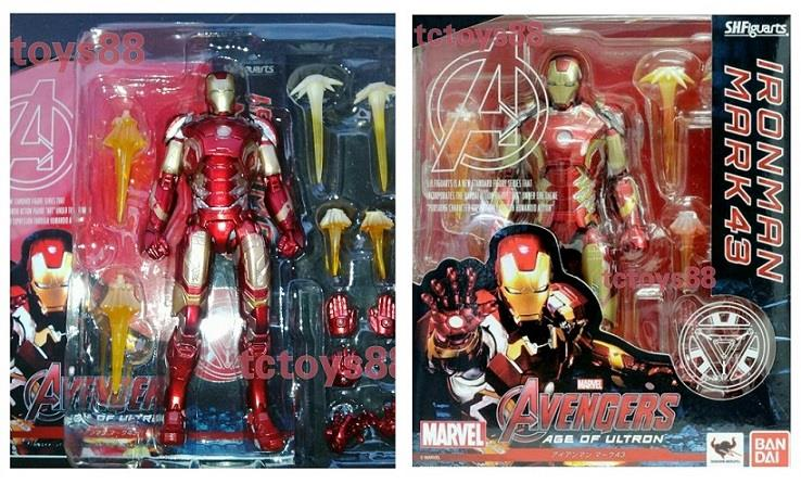 S.H.Figuarts Bandai SHF Ironman Mark 43 'Age Of Ultron'. Action Figure