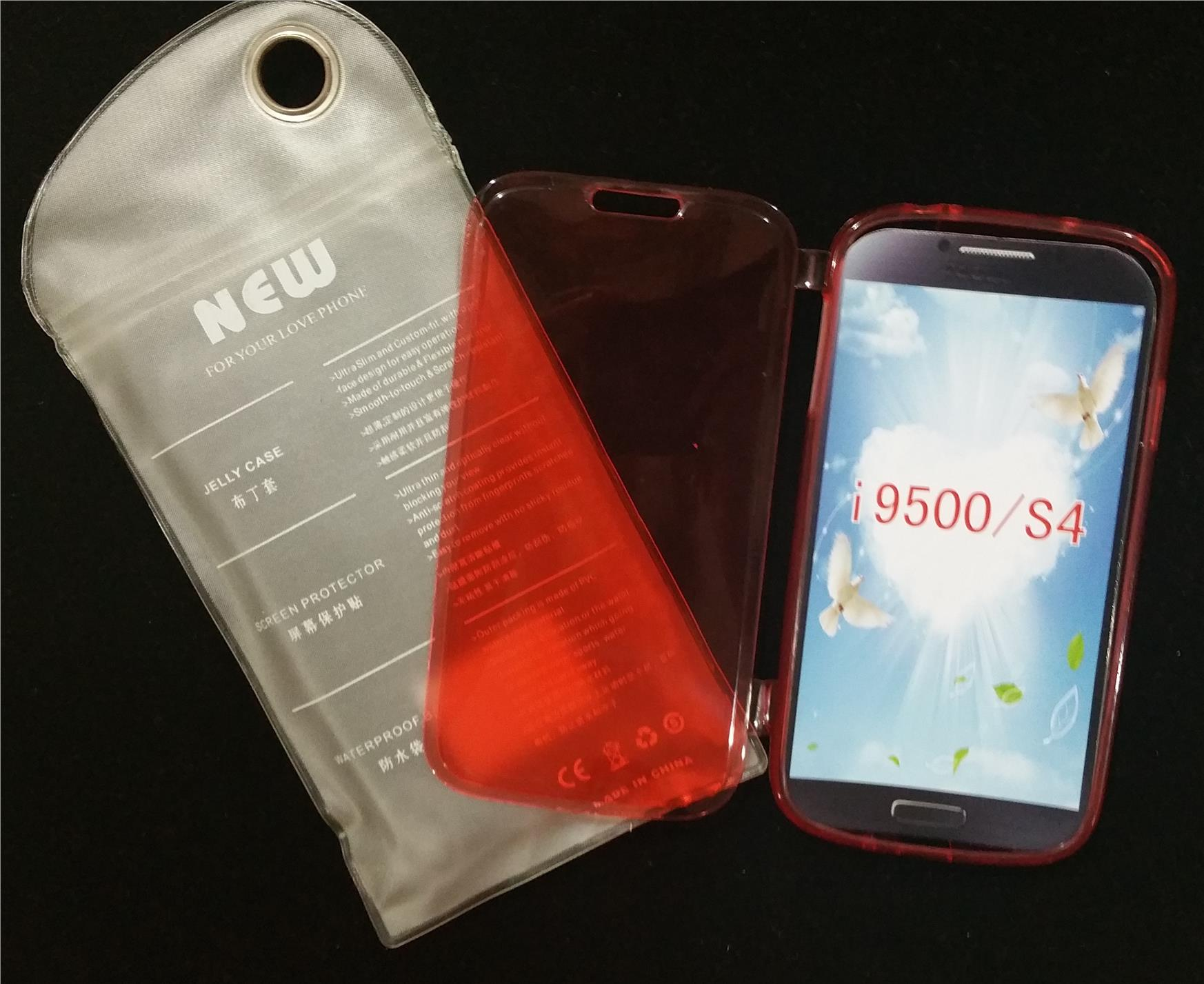 #S50 Samsung Galaxy S4 i9500 Flip Case Red Water Proof Bag