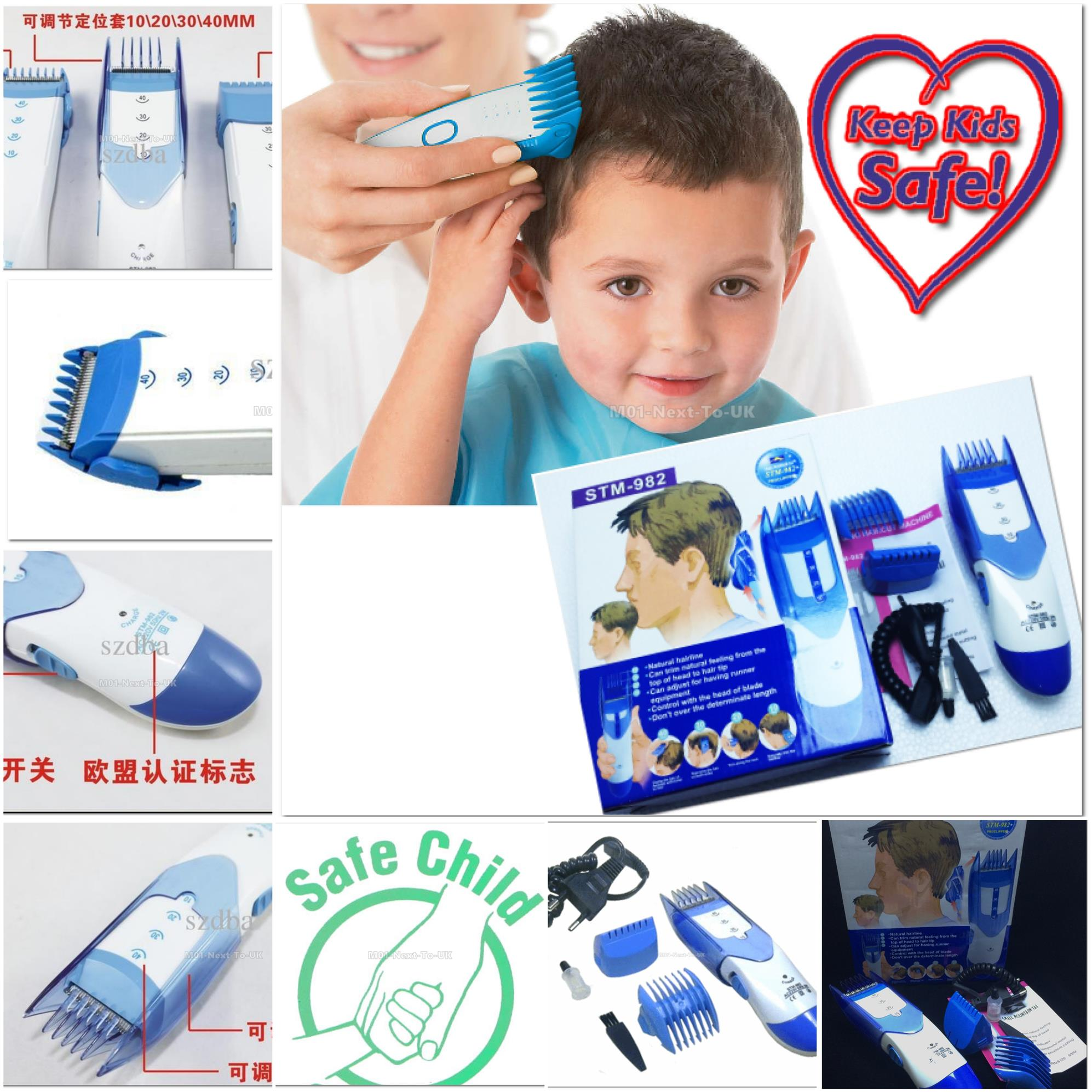 Safe Infants Children Baby Rechargeable Hair Clipper Trimmer Cutter