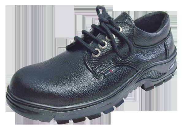 Safety Shoes Black Hammer Men Low Cut Lace Up Black 0991