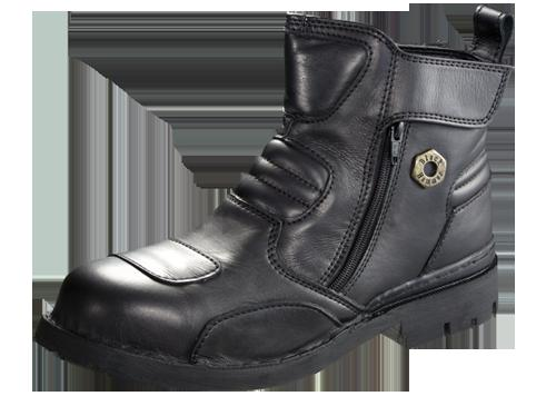 Safety Shoes Black Hammer Men Medium Cut Zip Up Black BH ...