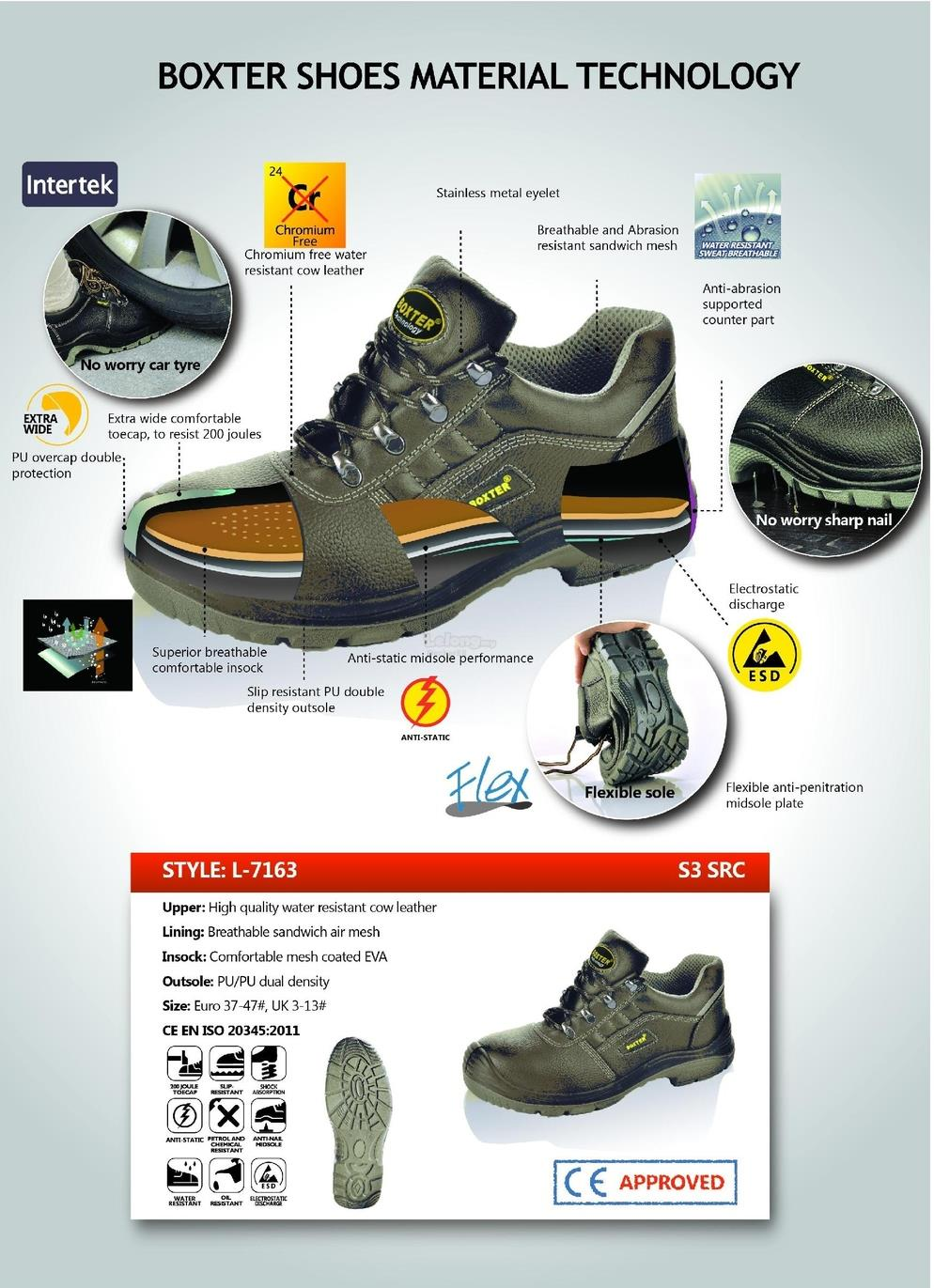 Safety Shoes - Low Cut (L-7163)