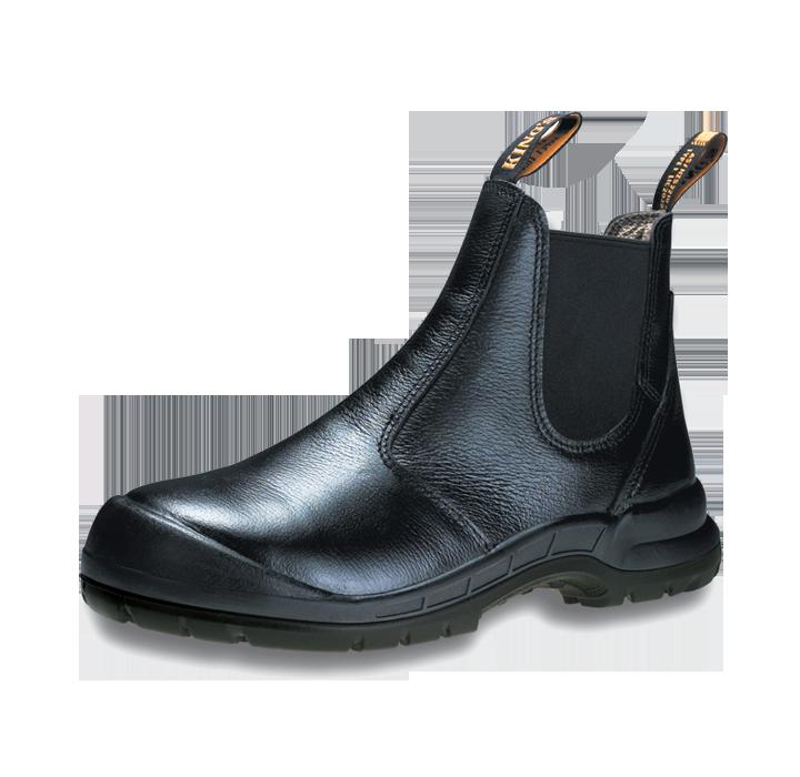 Safety Shoes King's Men Medium Cut Pull On Black KWD706 Customize