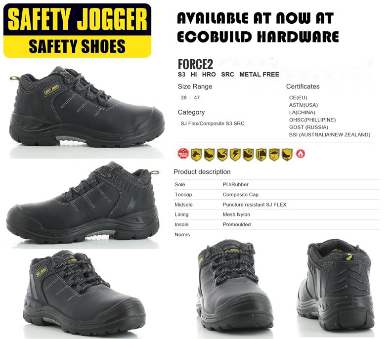 SAFETY SHOES - SAFETY JOGGER - FORCE (end 5/17/2017 115 PM)