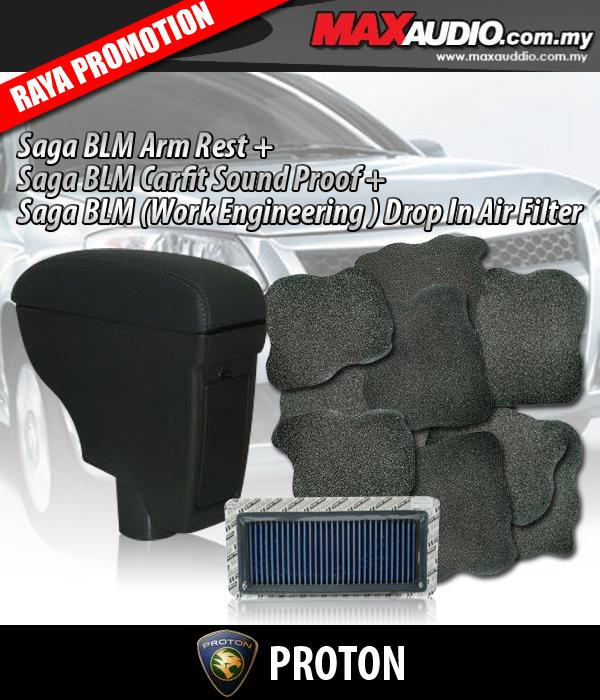 SAGA BLM/ FL Leather Arm Rest  + Bonnet Sound proof + WORKS Air Filter