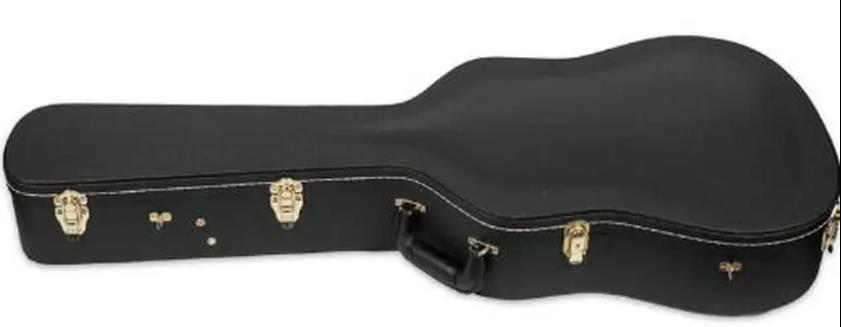 Saga Deluxe Wood Dreadnought Acoustic Hardcase With Lock Latch