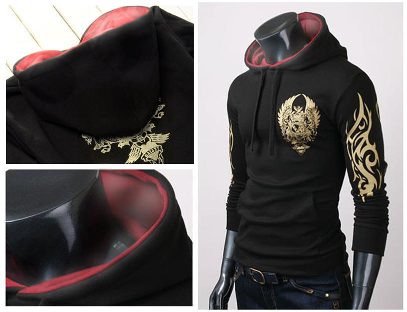 SALE!!! D.HOMME KOREAN F.STYLISH TATTOOIST HOODED JACKET