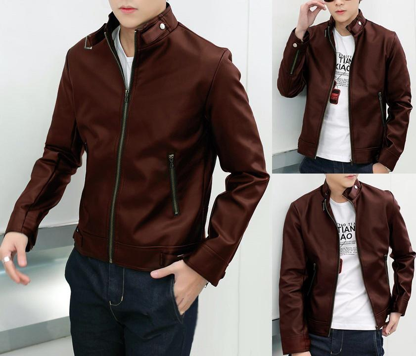 SALE!!!~D.HOMME KOREAN STYLISH RETRO ZIPPING BIKER JACKET