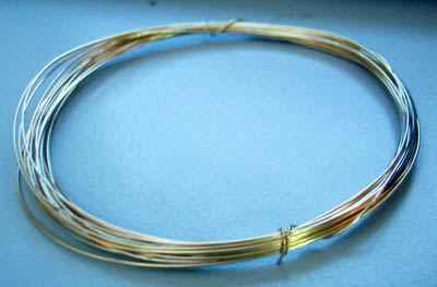 SALE DIY 14K Gold ( 585 ) Filled Craft Wire 0.5mm 3.3 metres Suasa