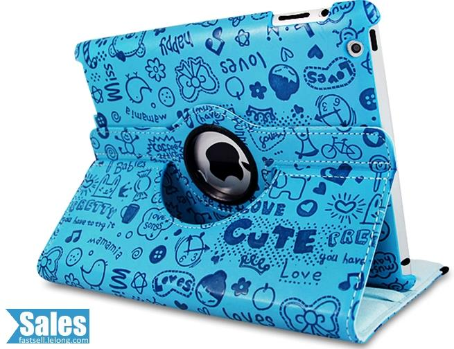 SALES➤ iPad 2/3/4 Rotatable Cute Case Casing Cover