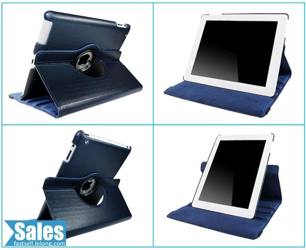 SALES➤ iPad 2/3/4 Rotatable Standing Color Case Casing Cover