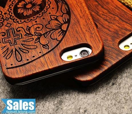 SALES➤ iPhone 5/5S Plus Real Wood Craved CASE CASING COVER