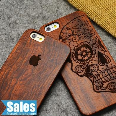 SALES➤ iPhone 6 4.7'' Real Wood Craved CASE CASING COVER