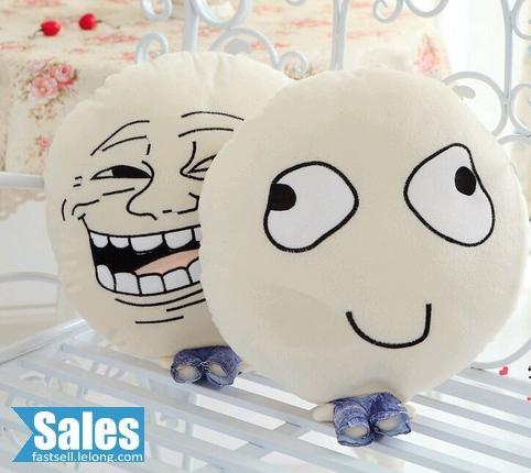 SALES➤ MEME RAGE FACE PLUSH DOLL PILLOW