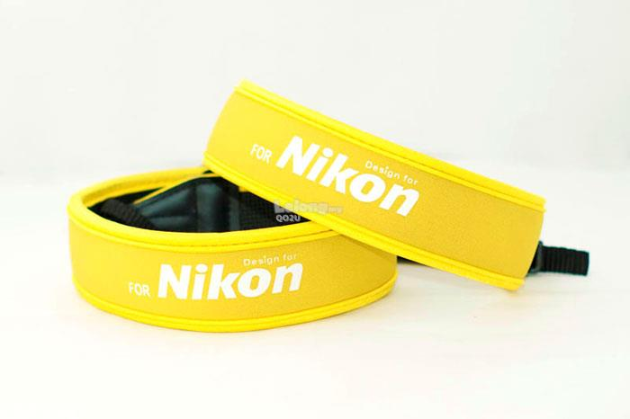 SALES! Neoprene Elastic Flexible Neck Shoulder Strap Nikon (Yellow)
