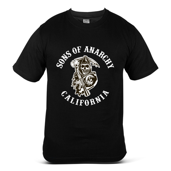 SAMCRO Sons Of Anarchy Skull Reaper Motorcycle California Bike T-Shirt