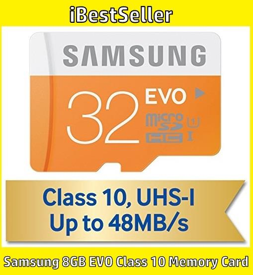 Samsung 8GB EVO Class 10 Micro SDHC up to 48MB/s Memory Card