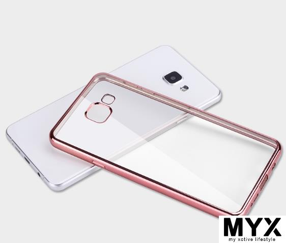 Samsung A9 Pro A9100 Chrome Silicone Phone Casing Case Cover