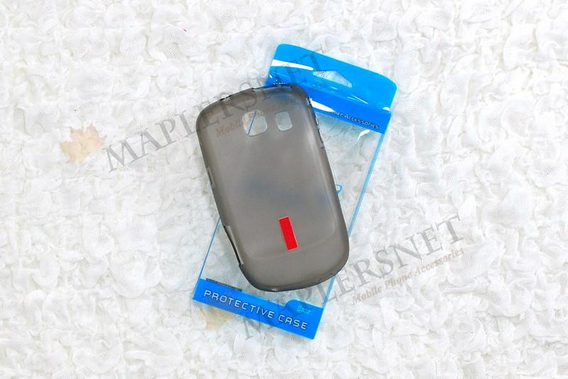 Samsung Corby 2 S3850 Soft Jacket Case Cover [Tinted Black]