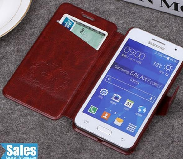 Samsung Core 2 Leather Case Casing Cover