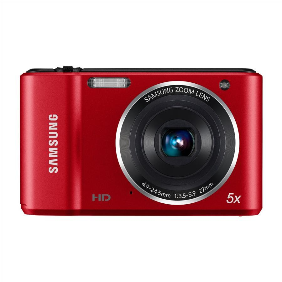 Samsung ES90 14.2 MP Digital Camera (Red)+4GB SD CARD+CASE
