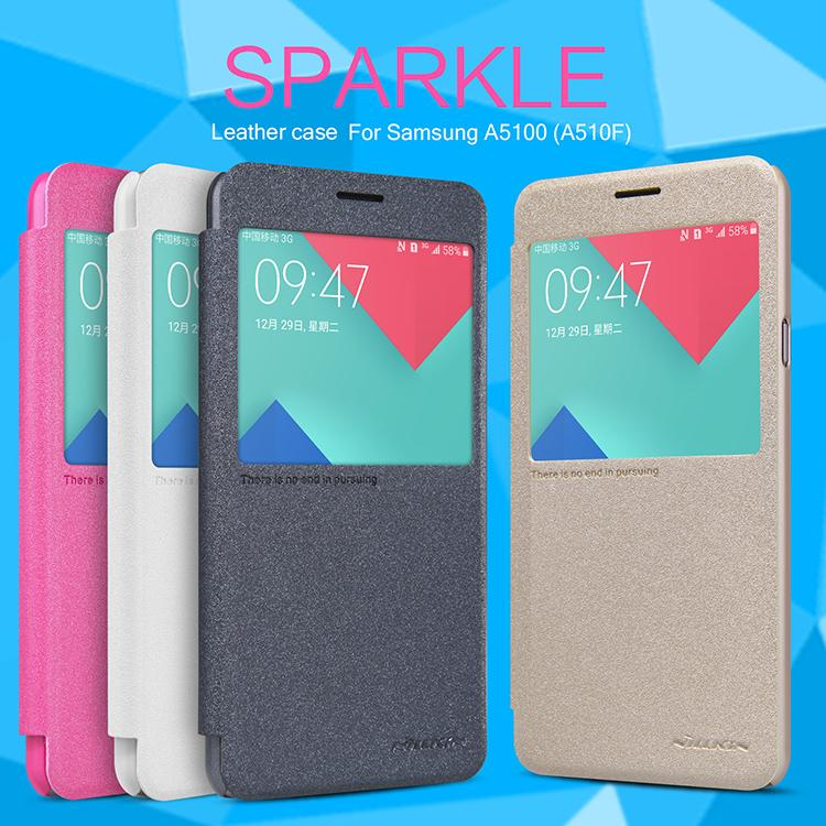 Samsung Galaxy A5 (2016) Nillkin Sparkle Series Leather Cover Case