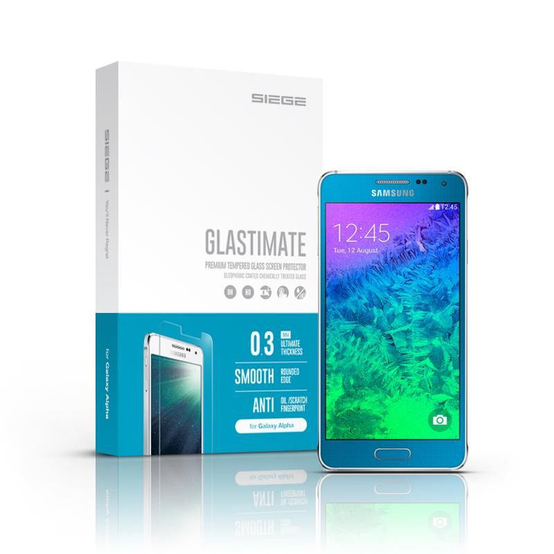 Samsung Galaxy Alpha Siege Glastimate Premium Tempered Glass