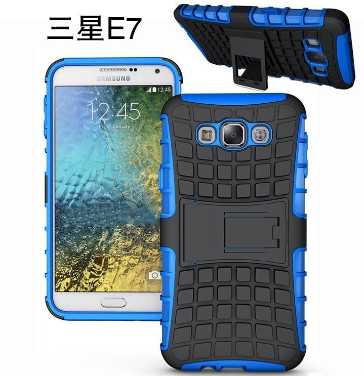 Samsung Galaxy E7 Tough Rugged Stand Case Cover Casing + Free SP
