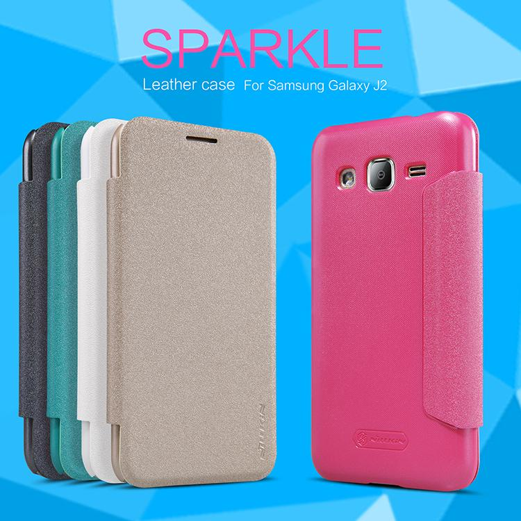 Samsung Galaxy J2 Nillkin Sparkle Series Leather Cover Flip Case