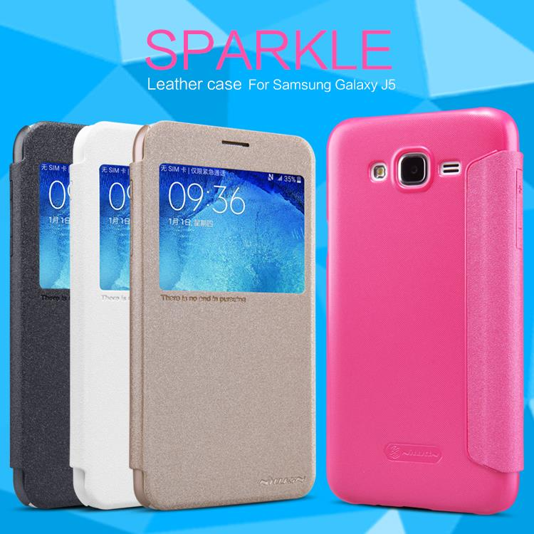 Samsung Galaxy J5 Nillkin Sparkle Series Leather Flip Cover Case