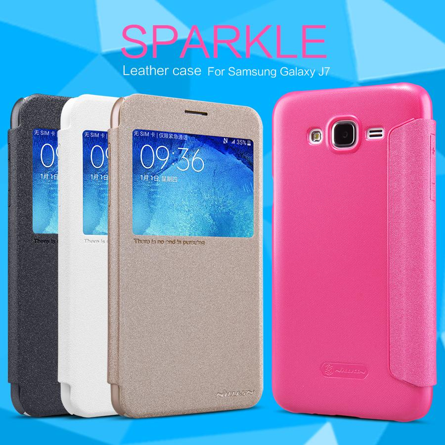 Samsung Galaxy J7 Nillkin Sparkle Series Leather Flip Cover Case