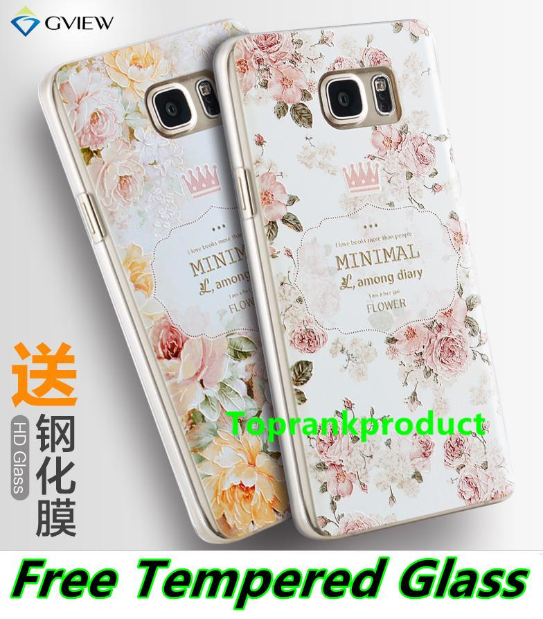 Samsung Galaxy Note 2 3 4 5 3D Case Cover Casing + Tempered Glass