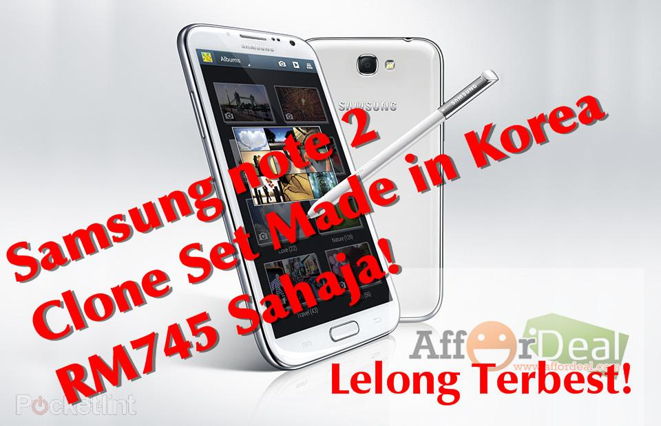 Samsung Galaxy Note 2 II N7100 Clone New RM744 Cheap! Made in Korea