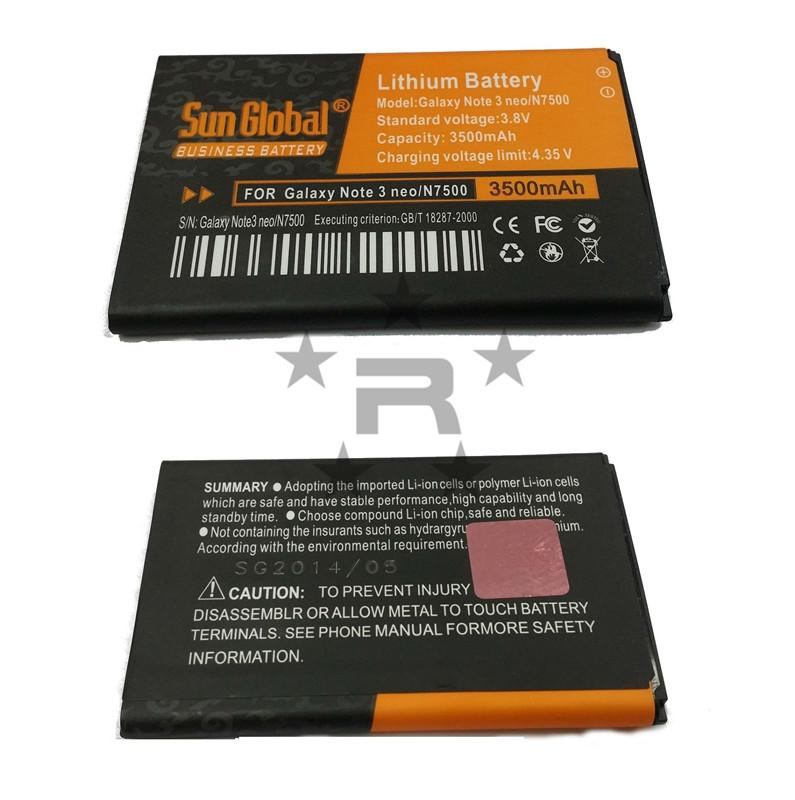 Samsung Galaxy Note 3 Neo Sun Global 3500 mAh Battery - rmtlee