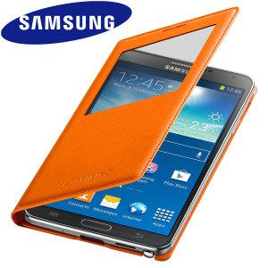 Samsung Galaxy Note 3 S View Cover Case Wild Orange