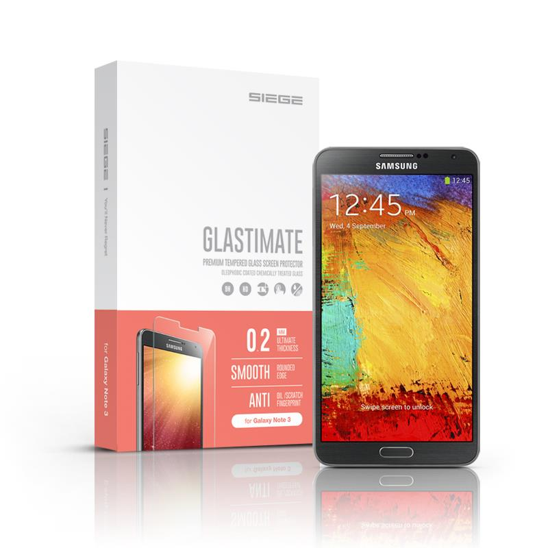 Samsung Galaxy Note 3 SIEGE Glastimate Premium Tempered Glass