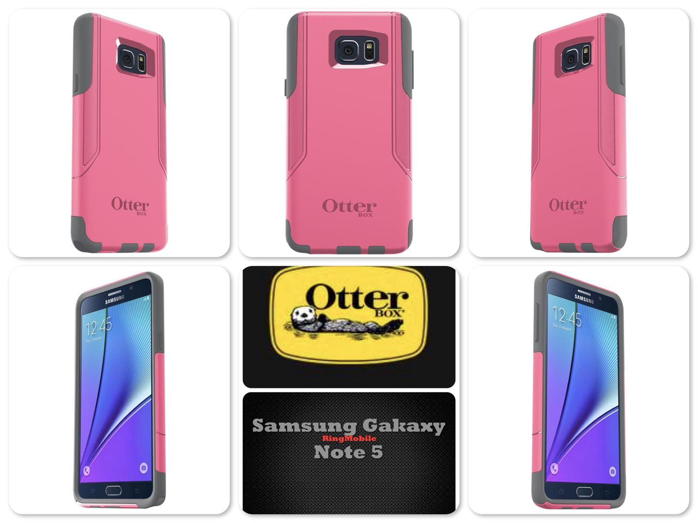 Samsung Galaxy Note 5 Otterbox Commuter Series Pink Shadow