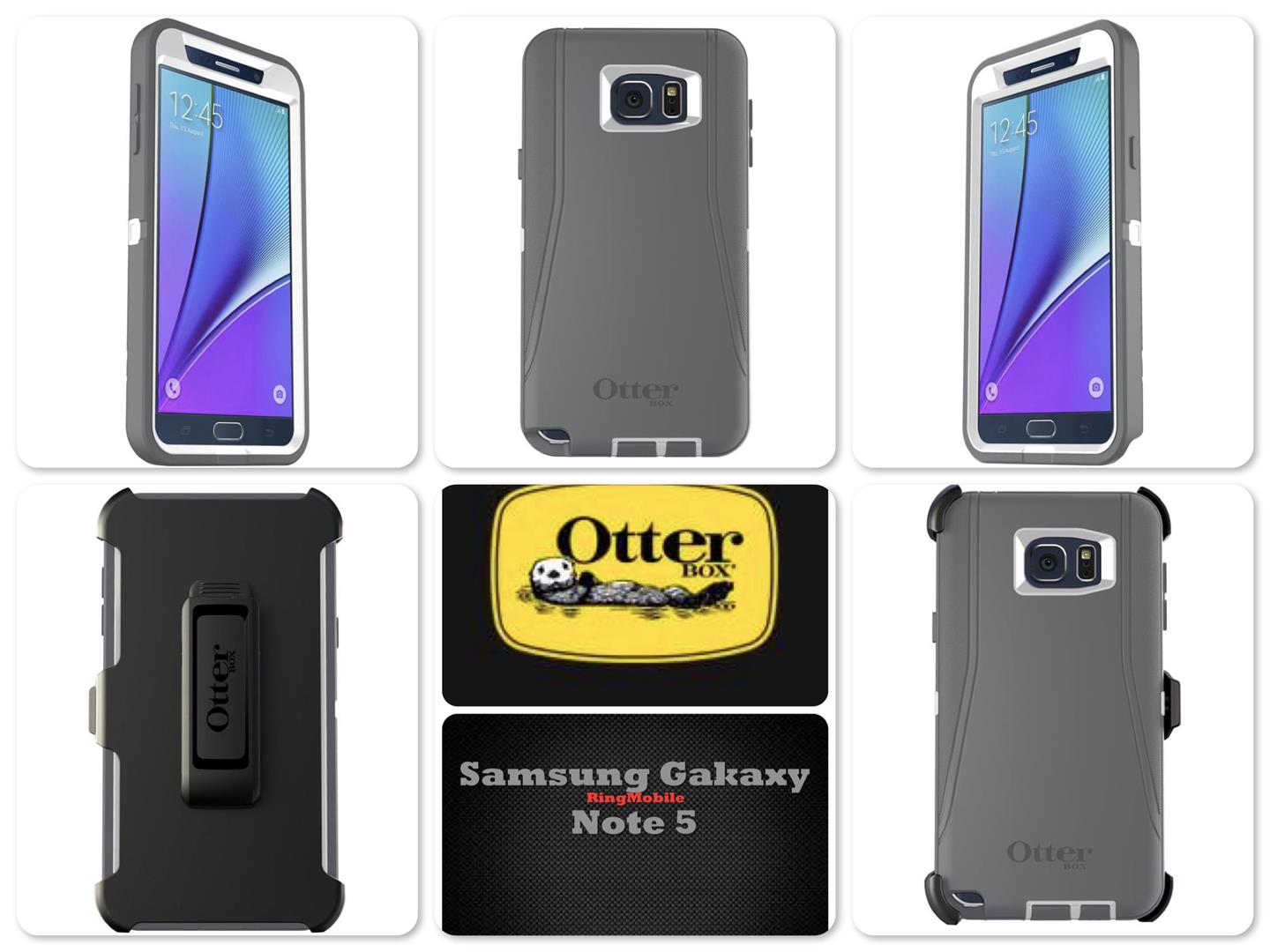 Samsung Galaxy Note 5 Otterbox Defender Series Glacier