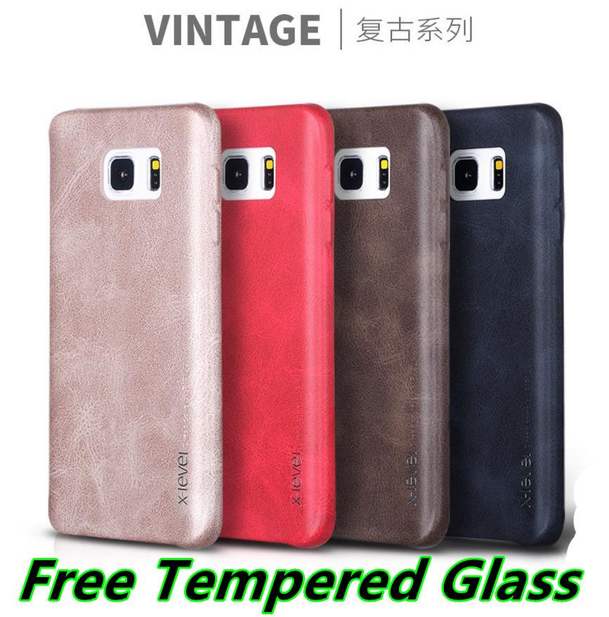 Samsung Galaxy Note 5 Vintage Leather Case Cover Casing +Free Glass SP