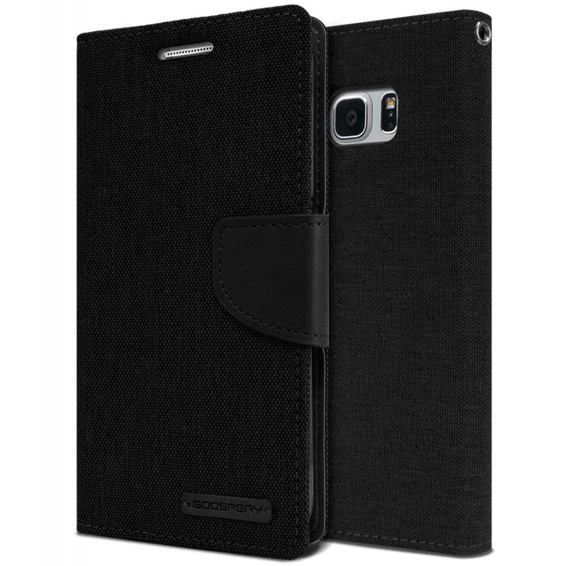 SAMSUNG Galaxy Note 7 N930 GOOSPERY CANVAS DIARY Leather Case Black