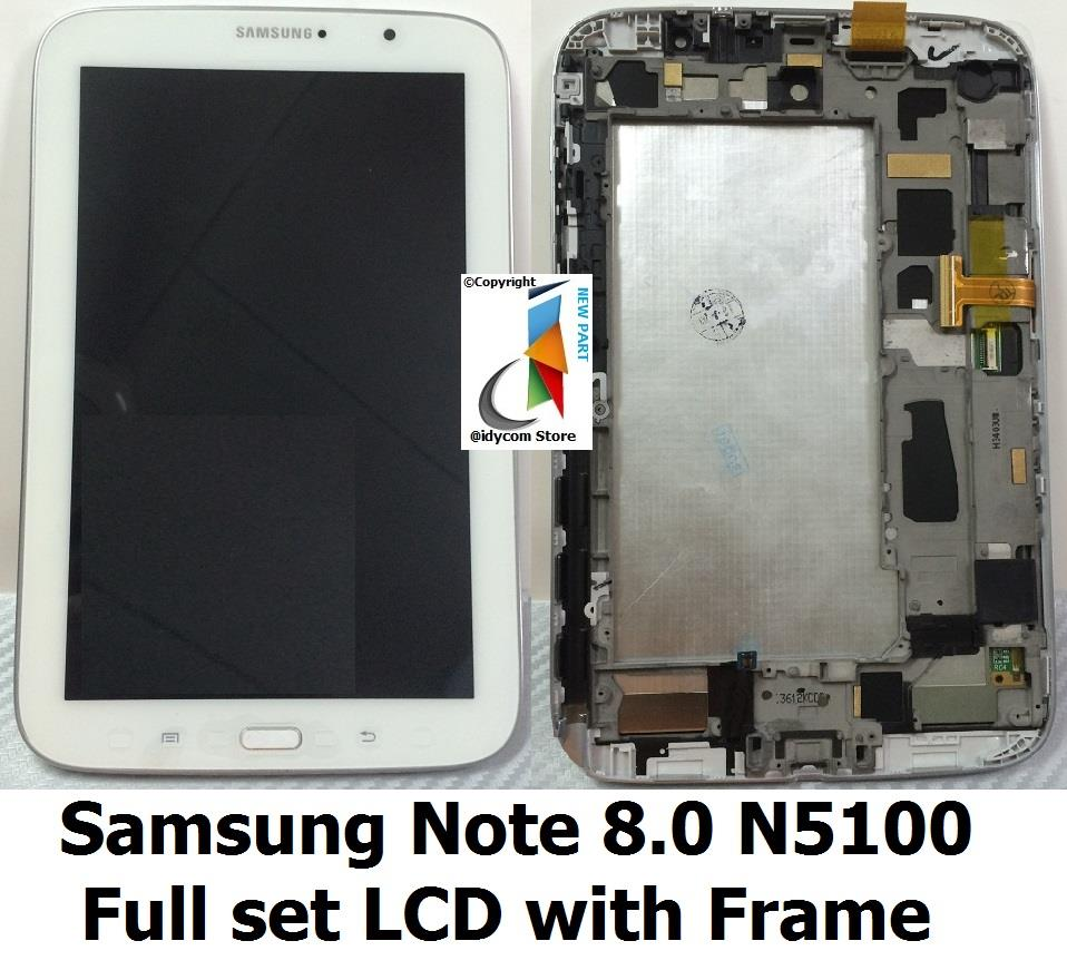Samsung Galaxy Note 8.0 N5100 LCD with Digitizer + Frame (White)