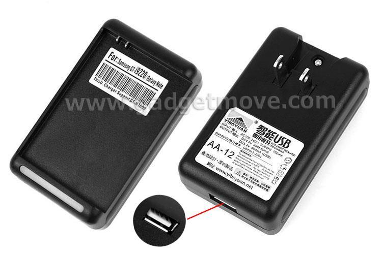 Samsung Galaxy Note Desktop Battery charger + USB adapter 2 in 1 I9220